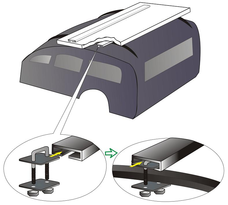 The supplied mounting kit