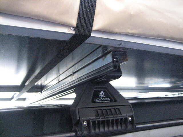 'A Rhino-rack mounting option  for the 'Roof Topper 8' - Roof  Top Tent.  Click this image for a larger  zoomed view.