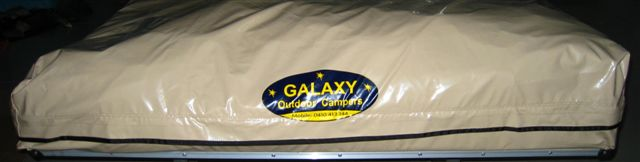 Currently most 18sqm Tents and Roof Toppers are being delivered with this colour YKK zip/velcro travelling dust cover.