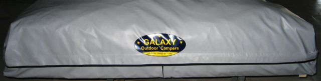 Currently most 24sqm Tents are being delivered with this colour YKK zip/velcro travelling dust cover.